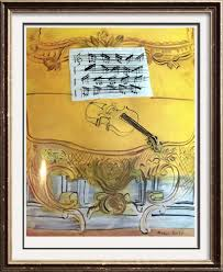 raoul dufy yellow console with violin c 1949 fine art print from museum artist