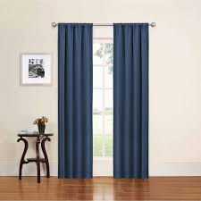 Wallmart curtains for living in blue color features rod pocket style and  this curtain is matching for walls with pastel mood or smooth shades