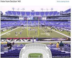 Baltimore Ravens Psl Plus 2019 Season Tickets In Lower Level