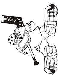 Small Picture Hockey Coloring Page Goalie With Legs Flaired Out