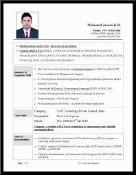 Free Resume Templates Electrical Engineering Cv Example Alexa