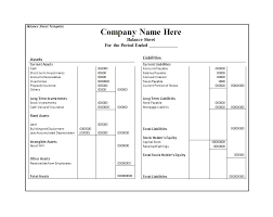 Balance Sheet Templates Template For Small Business Format Monthly ...