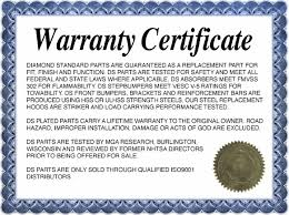 Warranty Certificate Template 2 Best Samples Templates