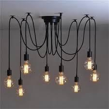 8heads mordern nordic retro edison bulb light industrial vintage ceiling lamp edison light pendant