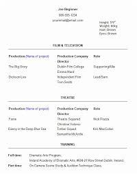Beginners Acting Resume New Theatre Resume Template 48 Useful Sample Acting Resume Templates To