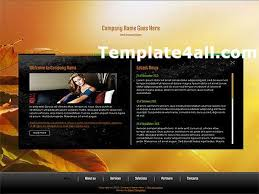 Free Flash Web Template Awesome Abstract Free Orange Business Flash Website Template