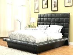 Barzini Black Upholstered Platform Bedroom Set Walmart King Velvet ...