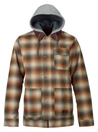 ... mens burton dunmore jacket shown in shep plaid .