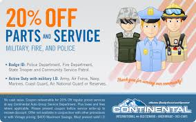 first responders 20 percent off parts and service