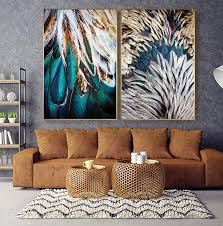 abstract feathers wall art fine art