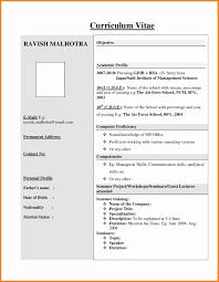 Cv Resume Format For Freshers 24 cv examples for freshers mail clerked 1