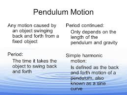 topic vibrations and waves pendulum motion any motion caused  2 pendulum