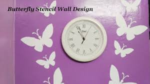 Small Picture Asian Paints Royale Play Butterfly Stencil Wall Design Part 1