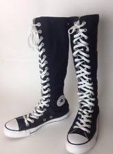converse knee high boots. converse all star chuck taylor knee high boot sneakers black white canvas 5 1/2 boots