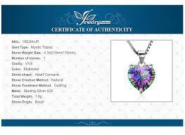 rainbow mystic topaz heart pendant
