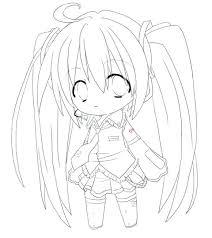Anime Coloring Pictures School Girl By On Anime Girl Coloring Page
