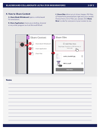 Blackboard Collaborate Ultra Moderators Quick Guide Uic 2015