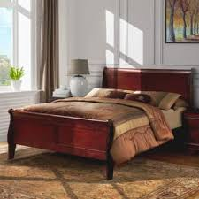 bordeaux louis philippe style bedroom furniture collection. Modren Bordeaux Furniture Of America Mayday II Paneled Cherry Sleigh Bed And Bordeaux Louis Philippe Style Bedroom Collection