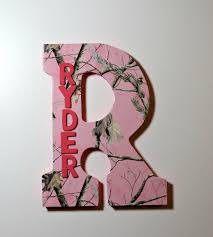 Pink Camo Bedroom Pink Camo Custom Wall Letter Name Art Wall Letters Hanging