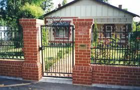 Modern Iron Gates And Fences With Wrought Iron Fence And Gate With