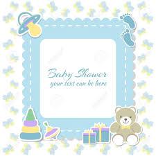bébé garçon carte d invitation placez pour le texte cartes de