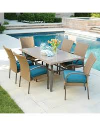 Outdoor wicker dining sets Backyard Hampton Bay Corranade 7piece Wicker Outdoor Dining Set With Charleston Cushions Better Homes And Gardens Dont Miss This Deal Hampton Bay Corranade 7piece Wicker Outdoor