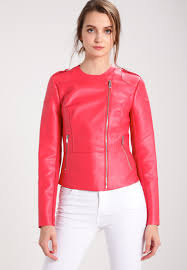 guess samantha faux leather jacket lava red women clothing jackets light