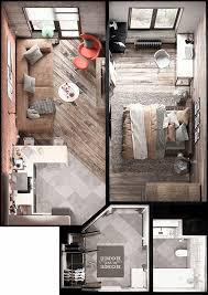 two room apartment of 30 to 50 square meters can be easily theydesign in two  room apartment How to Decorate Two Room Apartment