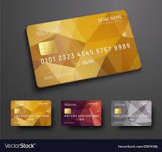 Debit Card Designs Design Of A Credit Debit Bank Card With A Gold