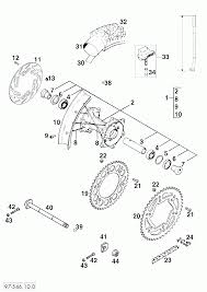 Hinterrad rear wheel 125 380 '98