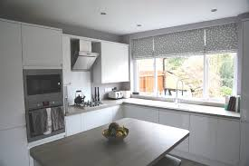 Roman Blinds In Kitchen Striking Roman Blinds In Helens Contemporary Kitchen Diner Web