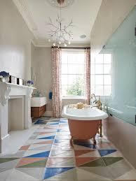 Contemporary multicolored floor bathroom idea in London