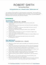 Tutor Resume Mesmerizing Accounting Tutor Resume Samples QwikResume