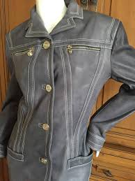 the color of your favorite faded blue jeans the top stitching on the leather resembles