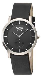 10 best boccia titanium watches for men most popular recommended boccia men s titanium leather strap watch b3540 02