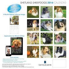 littlegifts shetland sheepdog 2016 calendar littlegifts shetland sheepdog 2016 calendar