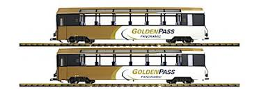 LGB 39666 MOB Golden Pass <b>Panorama 2</b>-<b>Car</b> Set w/Lights