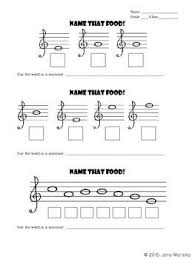 Treble Clef Music Free Download The Students Spell Words From Notes On The Lines And