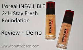 l oreal infallible 24h stay fresh foundation review demo