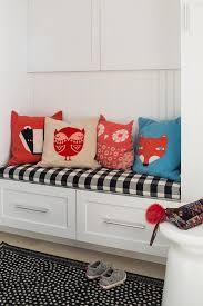White Mudroom Bench Cushion Design Ideas