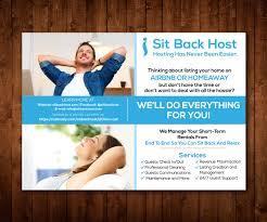half page flyer professional upmarket flyer design for sit back host by designers