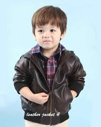 kids hoo leather jacket roll over to zoom in to enlarge