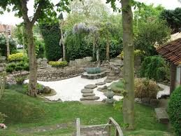 Lawn & Garden:Japanese Garden Bamboo Fountain Water Feature Design Ideas  Admirable Backyard Japanese Garden