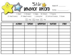 Point System Chart For Behavior Comprehensive Daily Point Chart 2019