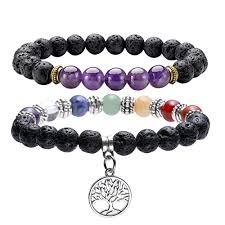 QGEM 2pcs 7 Chakras Tree of Life Healing Balancing ... - Amazon.com