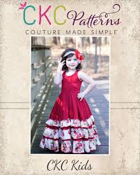 Ckc Patterns Inspiration Alejandra's Ruffled Maxi Dress Sizes 448448m To 48 Girls PDF Pattern