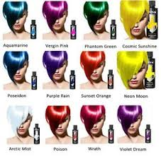 Arctic Fox Hair Dye Color Chart