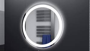 Badspiegel Designo Rund Mar111 Mit A Led Beleuchtung 40 Cm