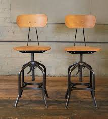 american pair bar stools bent plywood vintage toledo adjule chairs for