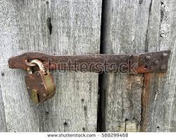 old door lock on an old building